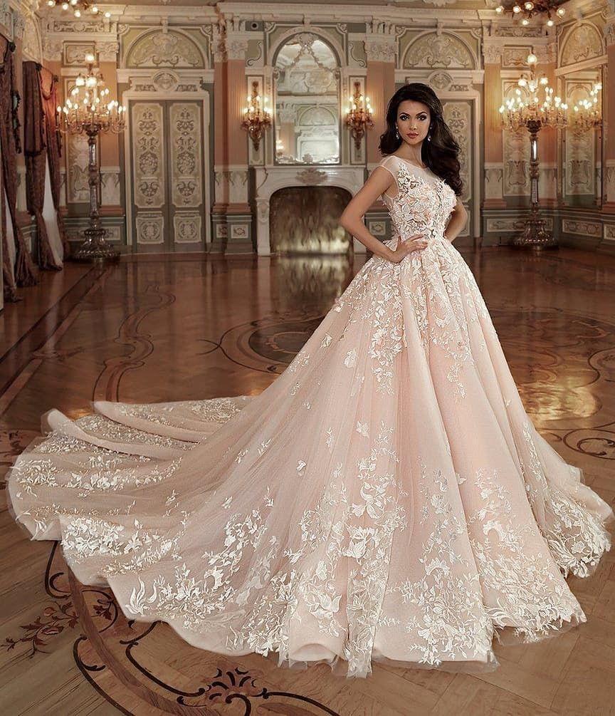 купить оптом Vestido Novia 2019 кантри румяна розовое кружевное A Line свадебное платье без рукавов жемчужина 3d флора принцесса свадебные платья