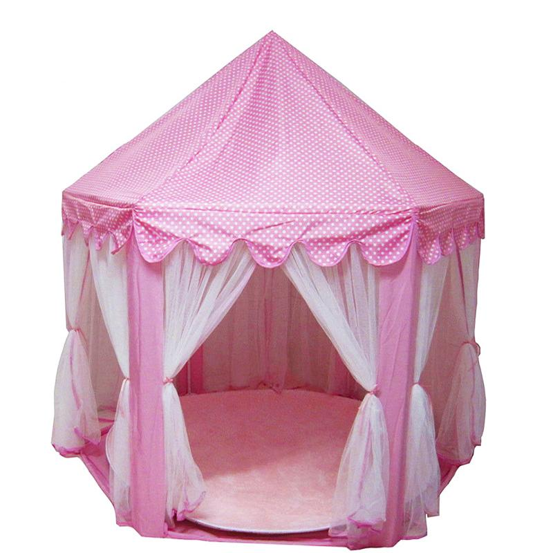 Portable Foldable Princess Folding Children Castle Play House Kids Gifts Outdoor Toy teepee tents Free Ship Factory Price Order Sale