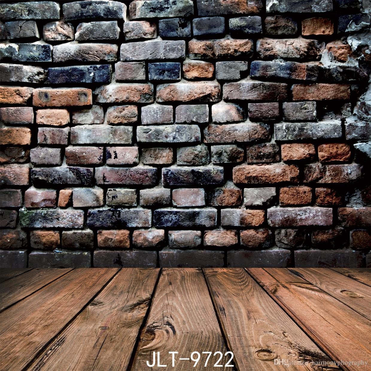 Stone Floor Brick Wall Bicycle Balloon Photography Backdrops Photo Props Studio Background 5x7ft