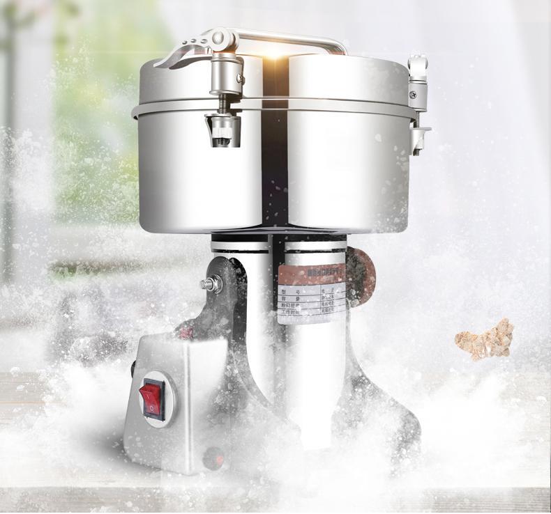 Qihang_top alta capacidade 4500g multifuncional industrial moedor de especiarias comercial máquina de moagem de pimenta elétrica moedor de pimenta