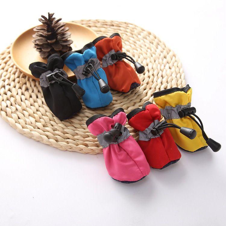 رخيصة شتاء دافئ كلب أحذية للكلاب غير زلة الكلب التمهيد الجوارب أحذية للماء المحمولة ل كلب صغير كبير الملحقات الرياضية