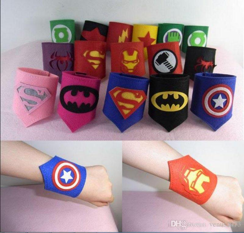 Kids Superhero party Wristband Spiderman Captain American Ironman for Kids Cosplay Use With Superhero for Halloween Birthday Party toy
