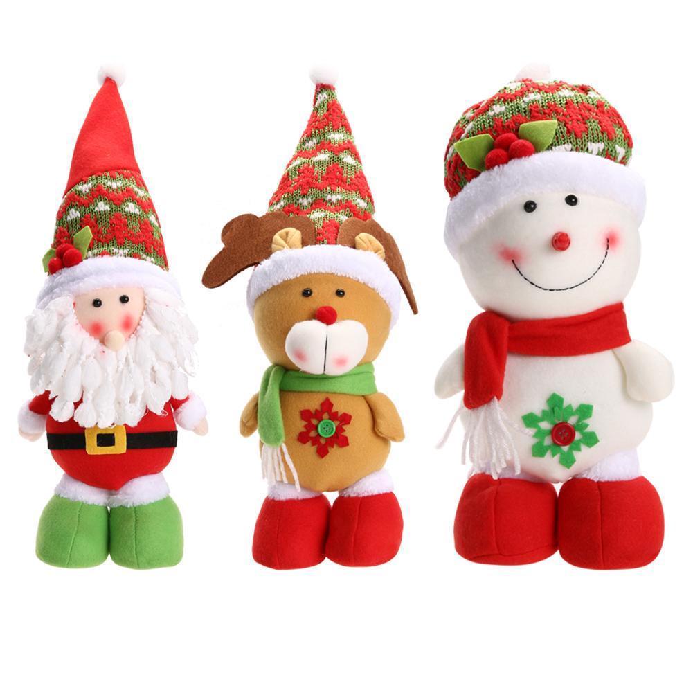 Christmas Santa Claus Snowman Reindeer Doll Ornament Gift Lovely Cartoon Home Christmas Decoration Supplies Christmas Decorations