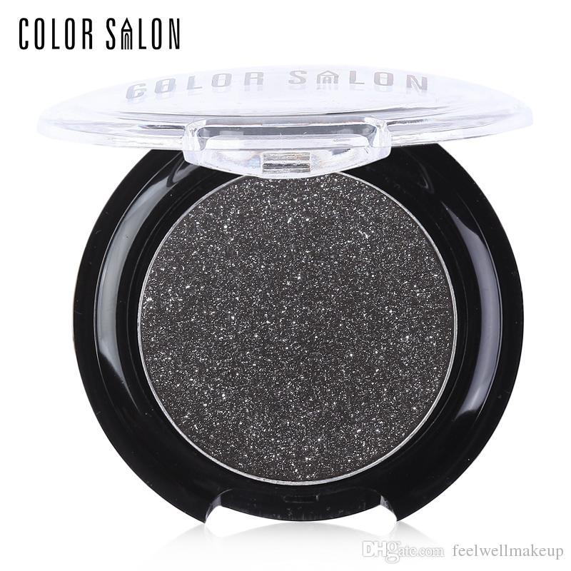 Color de moda Salon Sombra de ojos en polvo Profesional Diamante Sombra de ojos Cristal Polvo de sombras de ojos Maquillaje Impermeable Shimmer Eyeshadow 2.7g