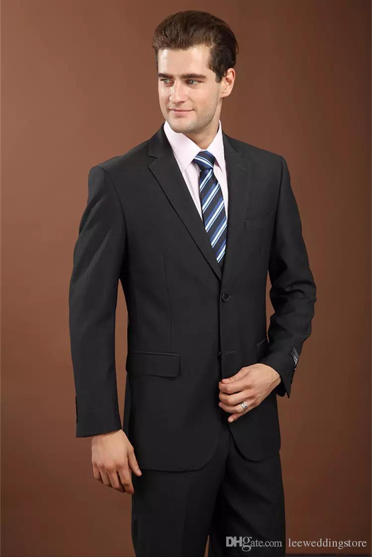 Men Suit Blazer Latest Coat Pant Designs Black Business Suits Wedding Suits Custom Made Groom Wear Tuxedos Gray Formal Best Man Jacket+Pants
