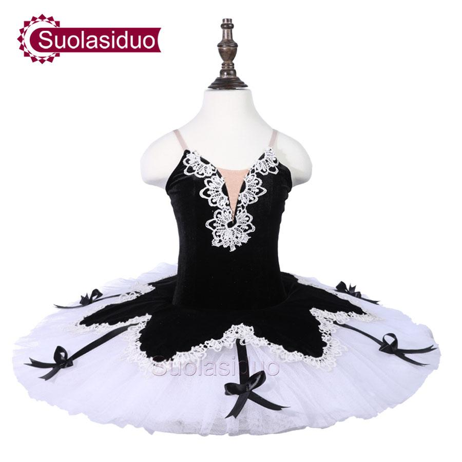 Kids Black Ballet Tutu Swan Lake Stage Performance Costumes Girls White Professional Ballet Dance Apperal Adult Ballet Skirt