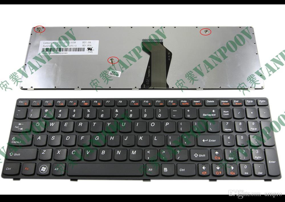 Len ovo Z570 V570 B570 B570A B570G B575 V570C 검정 (까만 구조)를위한 새로운 휴대용 퍼스널 컴퓨터 키보드 US layout