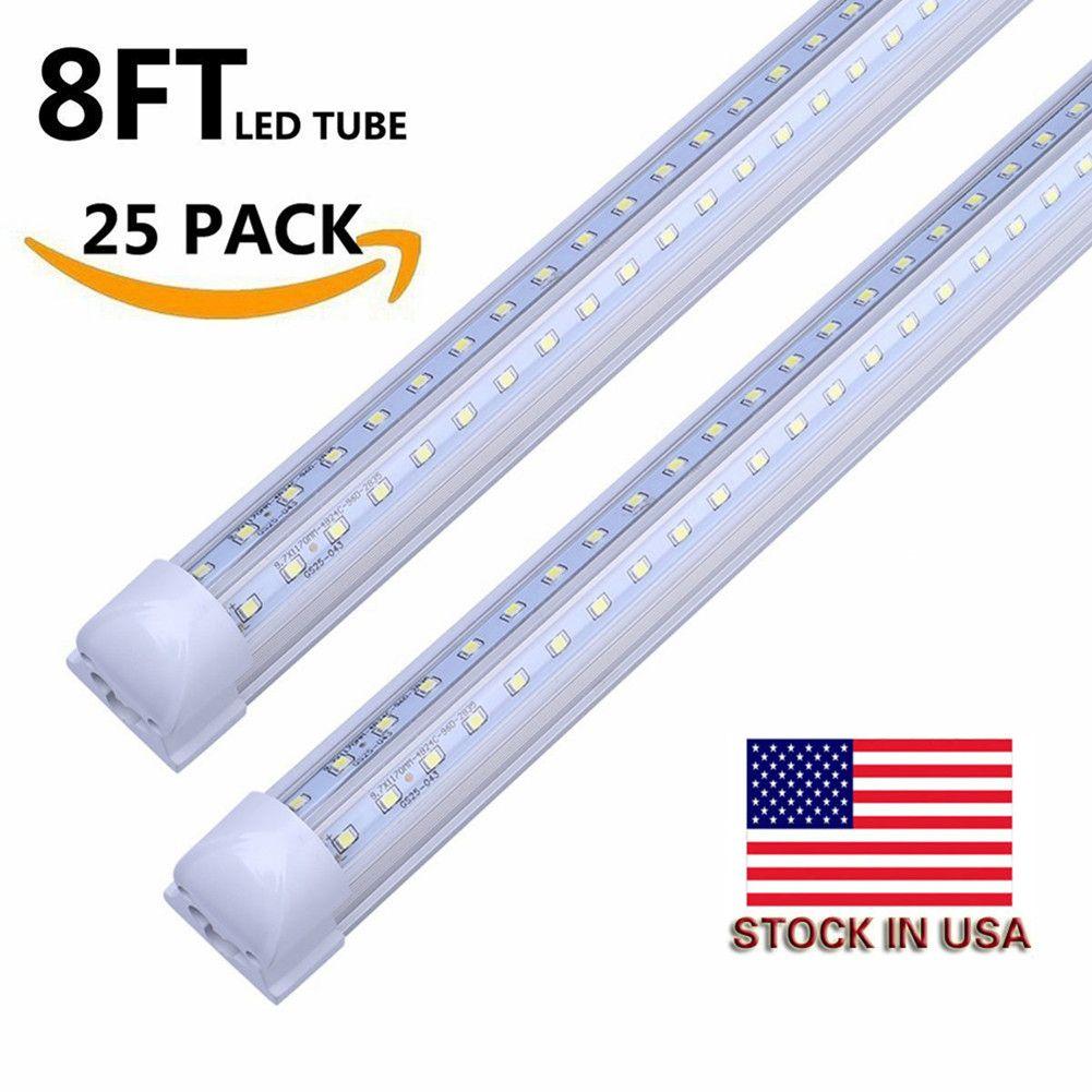 4ft v shaped led Integrated T8 Tube both sides Light 28W 8 feet for cooler door LED fluorescent lights AC85-265V SAA UL 25+
