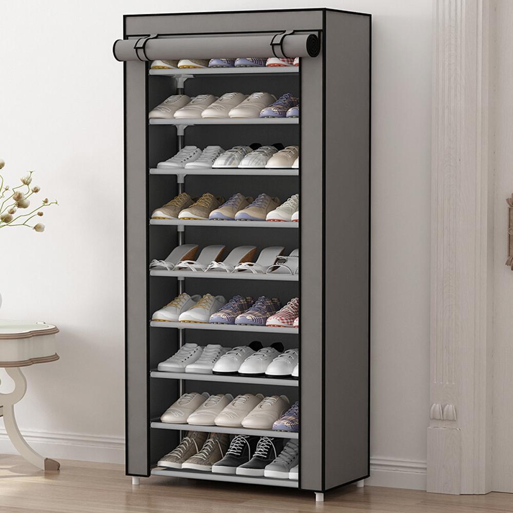 Support de chaussure antipoussière simple de multi fonction de HHAiNi, organisateur de stockage de Cabinet de chaussures non tissé avec les portes de tirette