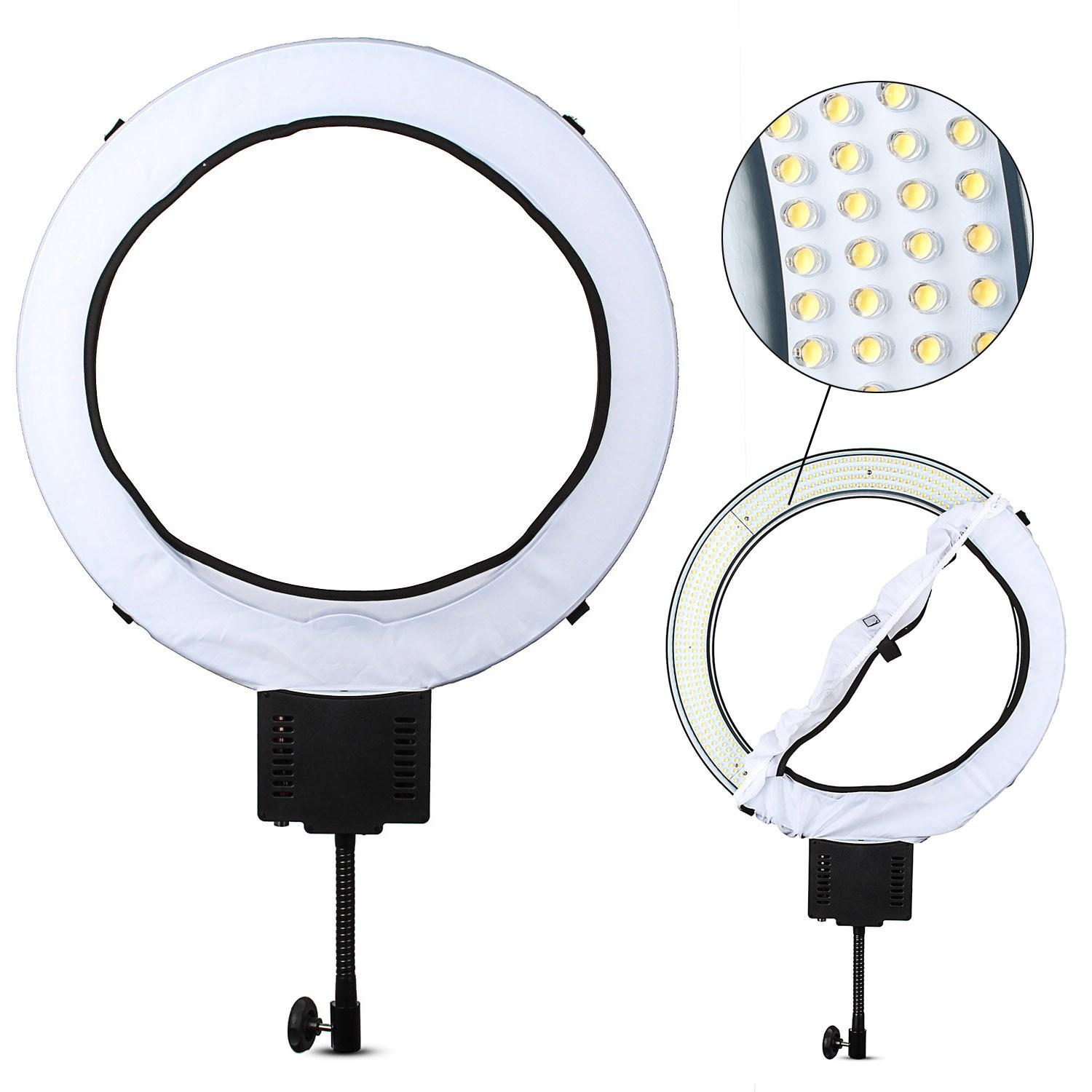 wholesale CN-R640 Photography Video Studio 640 LED Continuous Macro Ring Light 5600K Day Lighting As CN-65C PRO