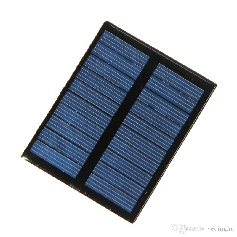 BUHESHUI 0.5W 5V Solar Cell Module Polycrystalline DIY Solar Panel Charger For 3.7v Battery Education Kits 58*72MM Epoxy 10pcs