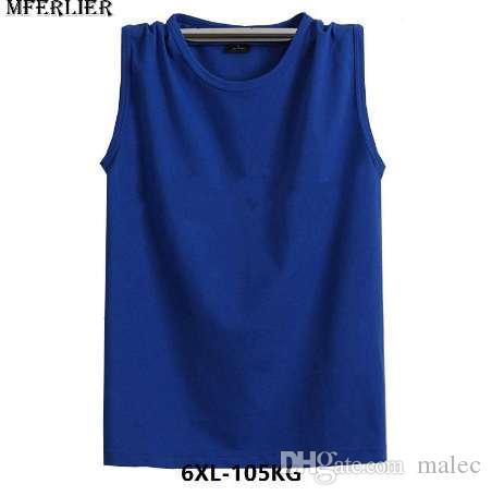 MFERLIER Fitness Sweat Hommes 6XL débardeurs 7XL sans manches, plus la taille 5XL en vrac coton basket ball t-shirts port noir gris rouge