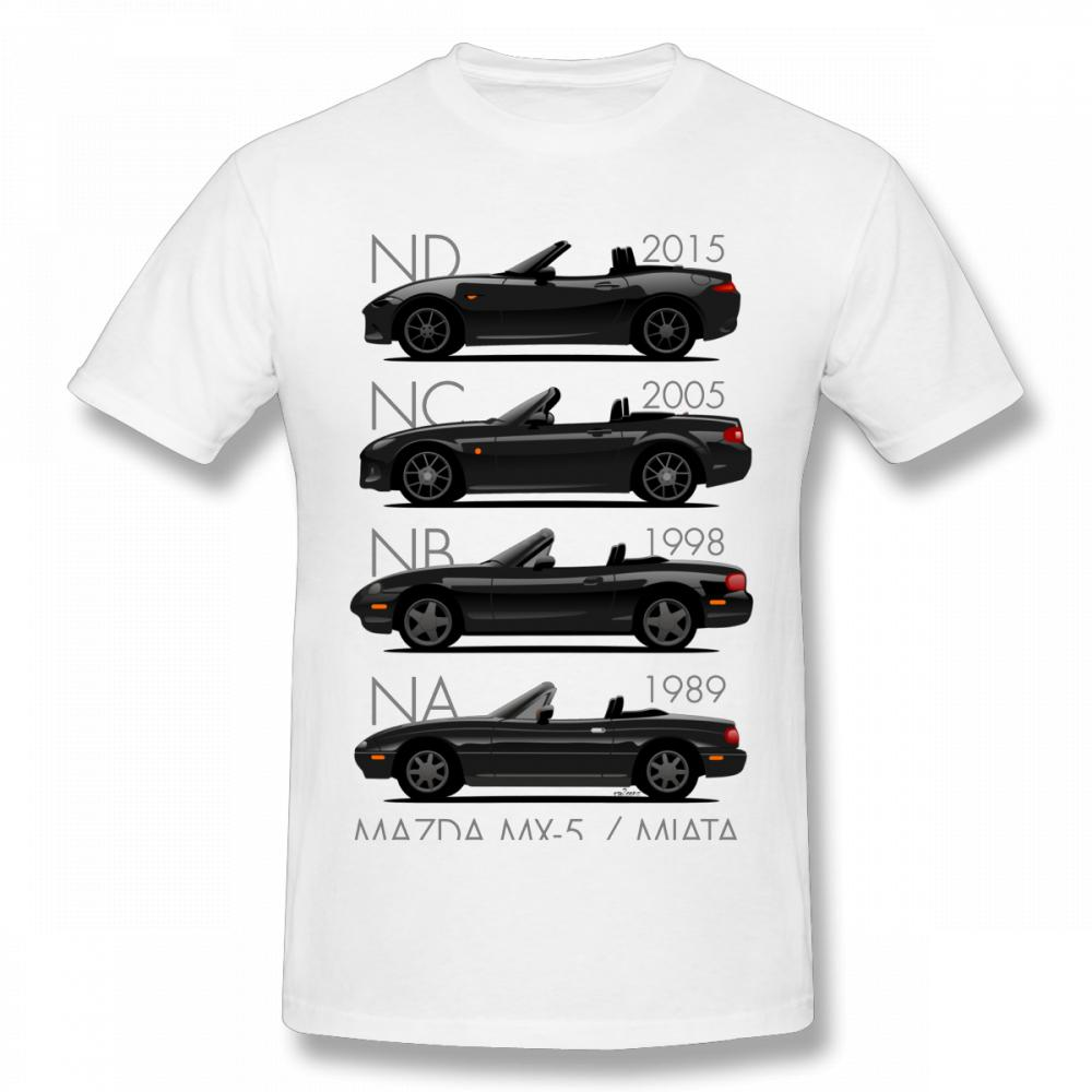 Mens Mazda MX5 3rd Gen Organic Cotton T-Shirt Retro Style Car Eco Friendly Gift