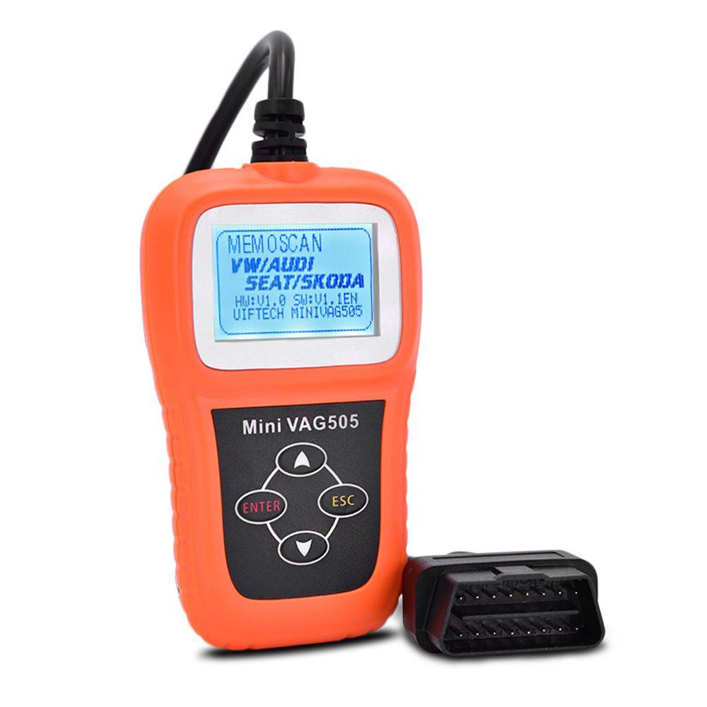 مصغرة VAG505 OBD2 OBDII السيارات رمز القارئ الماسح أداة تشخيص السيارات المسح الضوئي لشركة فولكس فاجن / أودي