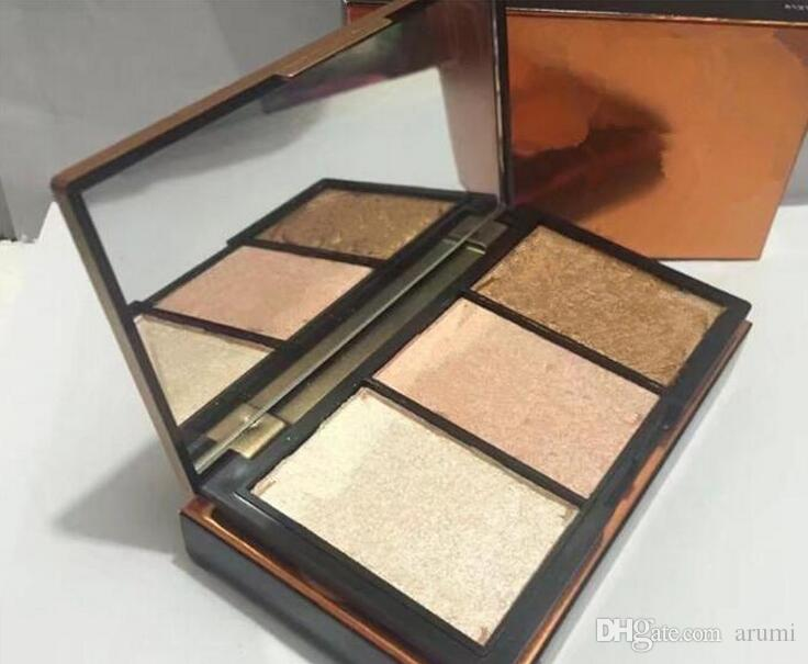 Hot new makeup palette 3 colori highlighter palette 4 style Bronzers Highlighters Blush Illuminatore DHL nave