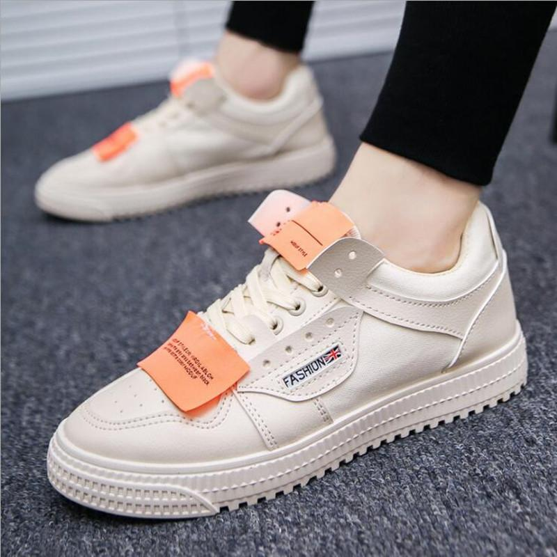 367915a5190381 Tide 2018 new wild low-top sneakers men hip-hop street dance shoes trend  fashion casual men's shoes white