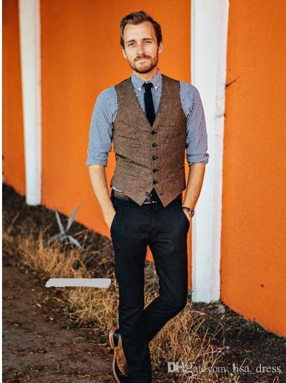 Men/'s Vintage Herringbone Slim Fit Wool Dress Pants Work Wedding Trousers Sz