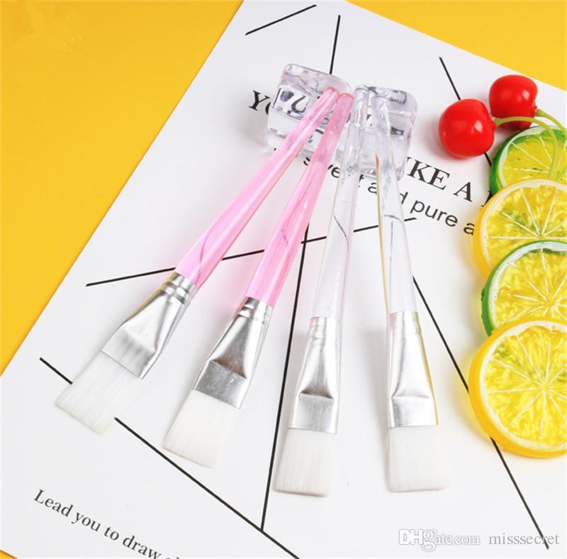 Nuovi 2 colori Pennello per maschera facciale in cristallo Pennelli per trucco Pennello per la cura della pelle Pennello per fondotinta Applicatore per fango