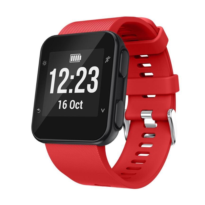 HL 2017 Replacement Wristband Watch band Wrist strap Silicagel Soft Band Strap For Garmin Forerunner 35 Watch dropship nov13