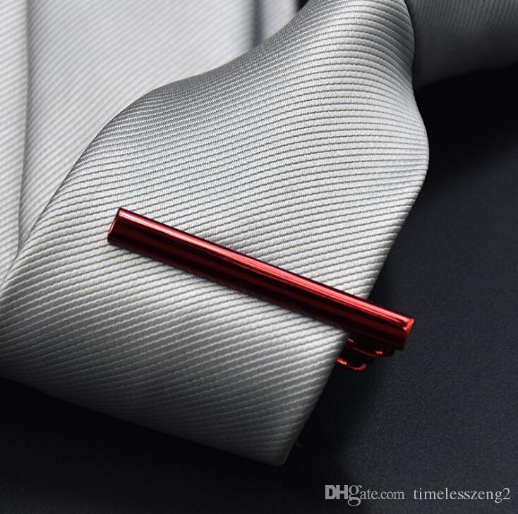 1 PCS 고전적인 금속 넥타이 클립 신사 넥타이 걸쇠 고품질 exquisitetie 바 비즈니스 넥타이 클립 8 색 무료 배송