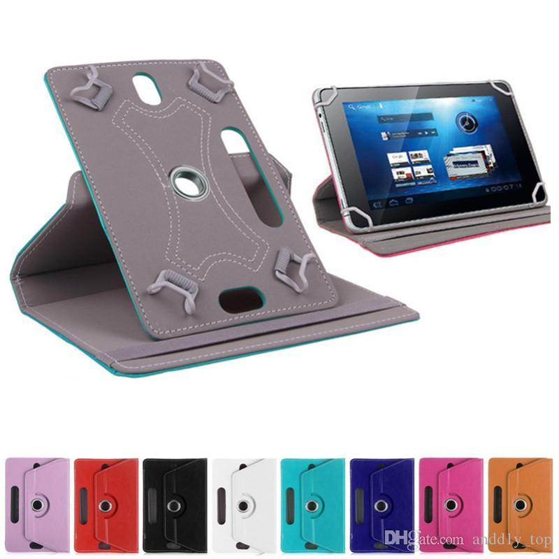 """Nuovo Tablet caso 360 Ruota protettiva in pelle caso del basamento della copertura di caso per universale Tablet PC 7"""" 8"""" 9"""" 10"""""""