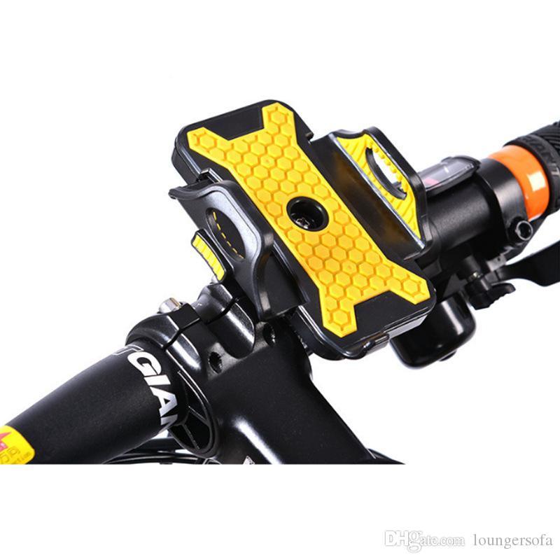 Mountain Bike Telefones Quadro Suporte Do Veículo Elétrico Portátil Anti Desgaste Criativo Moda Carrinho Do Telefone Móvel Universal Amarelo Azul 13jh jj