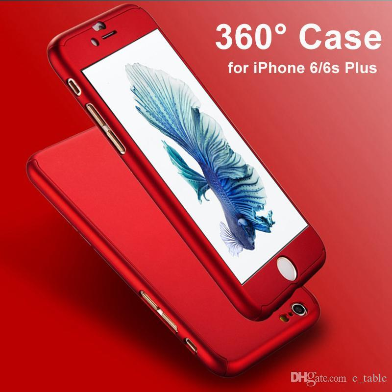 Ultra Thin 360 Case+ 9H Tempered Glass Screen Protector for Capinhas iPhone 7 6S 7 Plus Phone Case Full Body Cover Fundas Capa