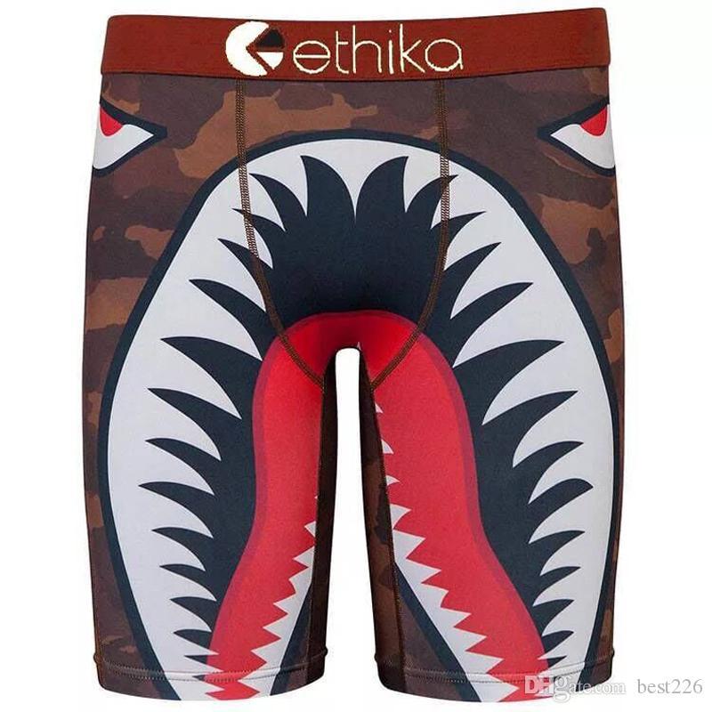 Livraison gratuite New Ethika Shark Mouth Hommes Sous-Vêtements Boxer Cool Sport Pantalon Court Taille US M L XL