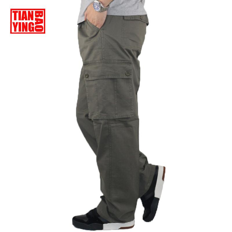 Mens Cargo Pants Pencil Harem Casual Baggy Pants Jogger Men Cotton Multi Pocket Boy Fitness Loose Stretch Work Overalls Trousers