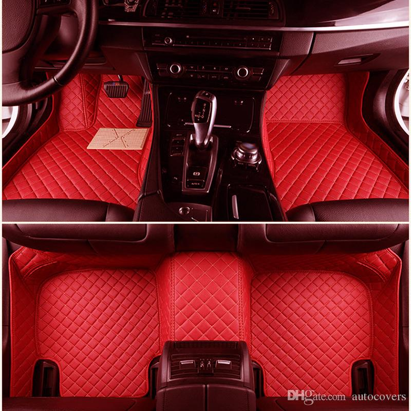 Custom Fit Car Floor Mats Specific Waterproof PU Leather ECO friendly Material For Vast of Car Model and Make 3 Pieces Full set Mats