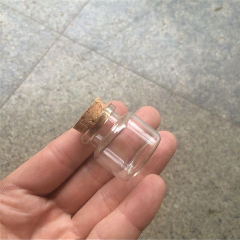 10ml Mini Glass Bottles With Cork Small Transparent Clear Tiny Empty Glass Vials Jars Corks Cute Bottles5