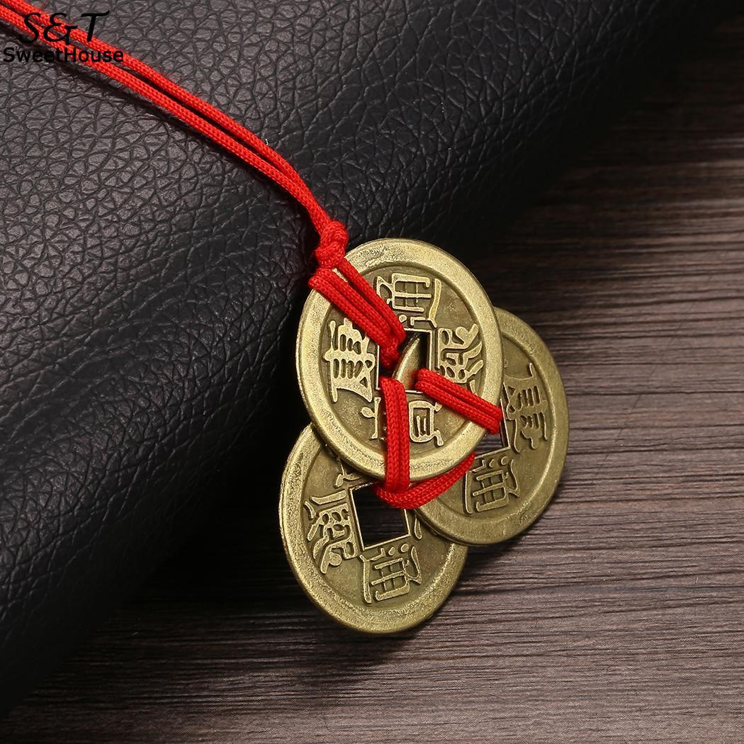 Повезло ожерелья FANALA императора амулет богатства и монетами на латунь сбора денег монета