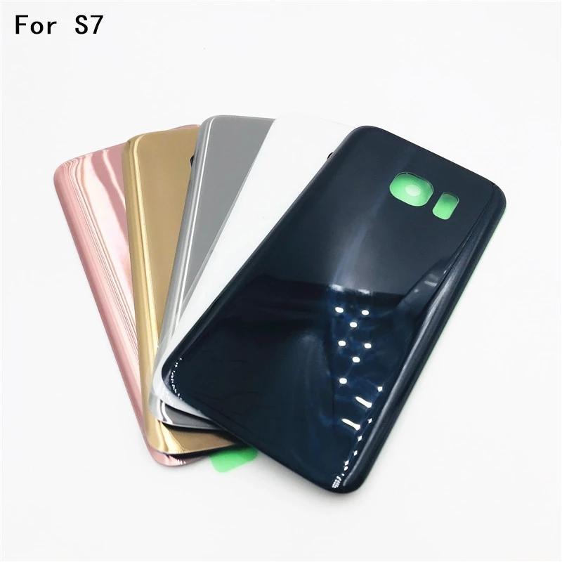 OEM kalite Arka Pil Kapı Samsung Galaxy S7 G930 S7 Kenar G930p F arka cam konut kapak yapıştırıcı ile çift Logo IMEI