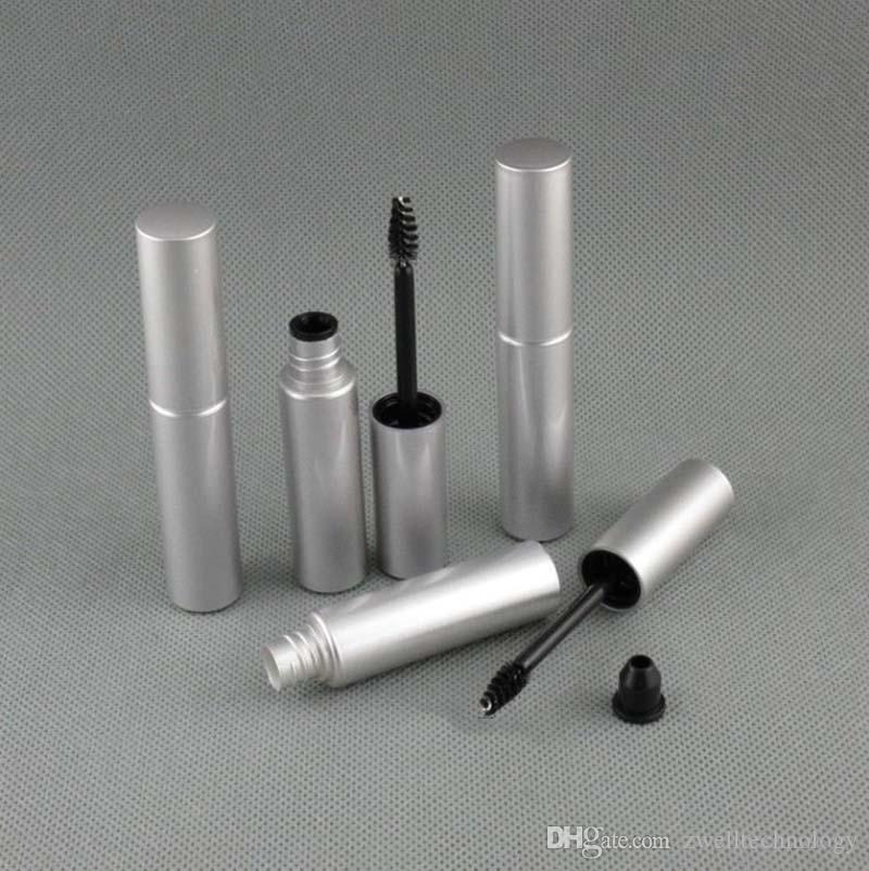 8 ml gros détaillants de crème de mascara récipients d'emballage bouteilles de eyeliner liquide argent vider les bouteilles en plastique noir tube