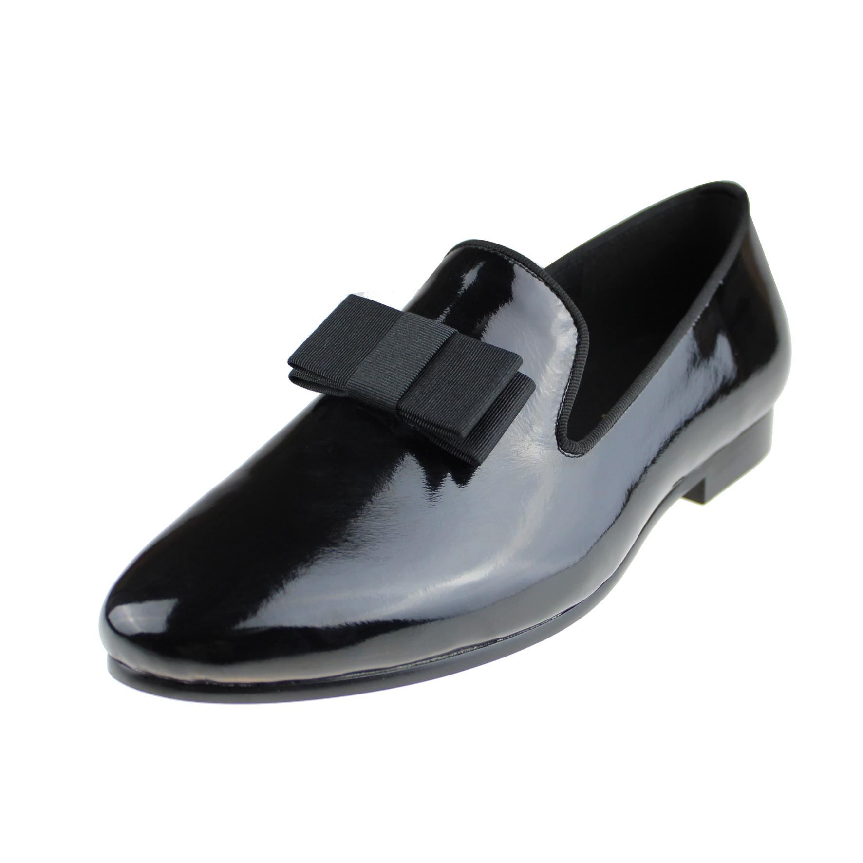 Harpelunde Bow Tie Men Loafers Black Patent Leather Handmade Dress Wedding Shoes Size 6 To 14 Designer Shoes High Heel Shoes From Harpelunde 88 45 Dhgate Com