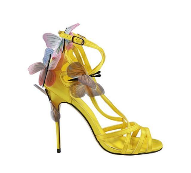 2018 nuevas mujeres de la llegada sandalias zapatos de mariposa sexy tacones altos zapatos de la boda del talón delgado de las señoras zapatos de fiesta alas sandalias