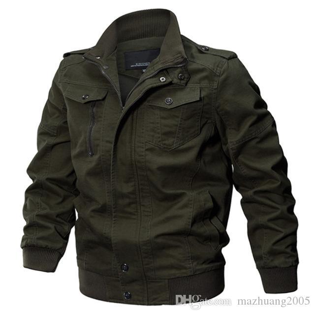 Homens militares jaqueta casaco do exército dos homens piloto jaquetas da força aérea jaqueta de carga