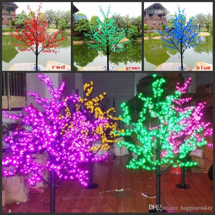 LED de Natal LED Cherry Blossom Tree Luz 480pcs Lâmpadas 1,5 m Altura 110 / 220V 7 Cores para Opção Uso Rainproof Outdoor