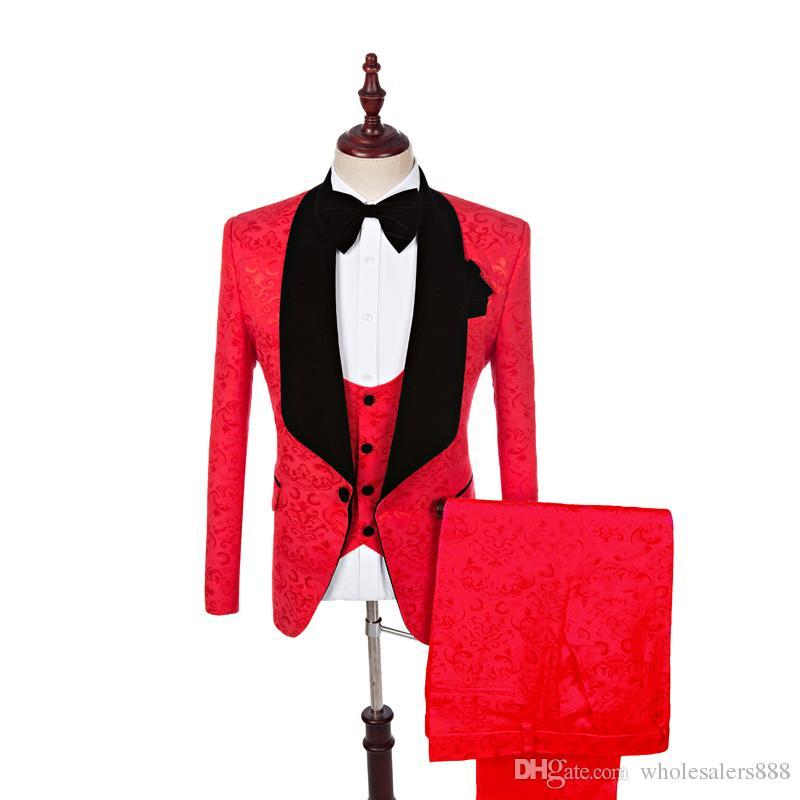 Real Photo Groomsmen Shawl Lapel smokings marié One Button Hommes Costumes de mariage / Prom / Dîner Best Man Blazer (veste + pantalon + veste + Bow Tie) K782