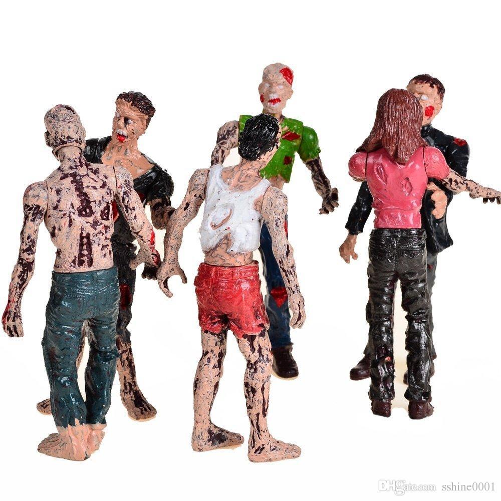 Set of 6 Zombie Toys Action Figures Toys Terror Corpse