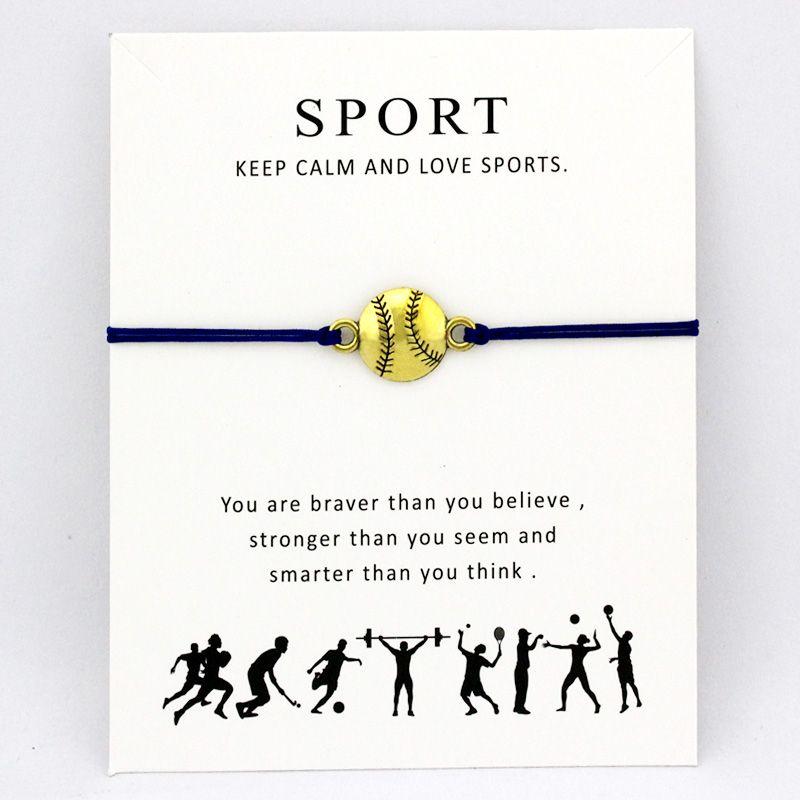 Béisbol Softbol Fútbol Deportes Pulseras Clave Lucky Horseshoe Charms Love Lock Joyería Ajustable Mujeres Hombres Chicos Unisex Regalo