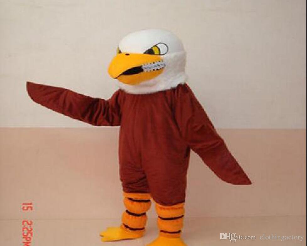 Neu kommen nette Adler-erwachsene Größen-Halloween-Karikatur-Maskottchen-Kostüm-Abendkleidqualität an