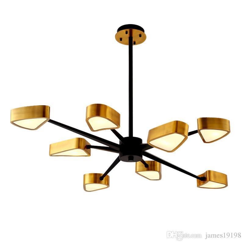 Урожай металл гальванического Осьминог Люстра простой LED лампа звездообразного ресторан ознакомительного кофе спальня Home Lighing Подвесного PA0501