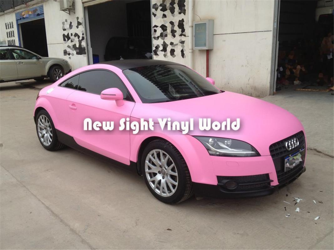 Liberação de ar cor-de-rosa matte de alta qualidade do envoltório do vinil do carro para Stikcers do carro Tamanho: 1.52 * 30m / Roll