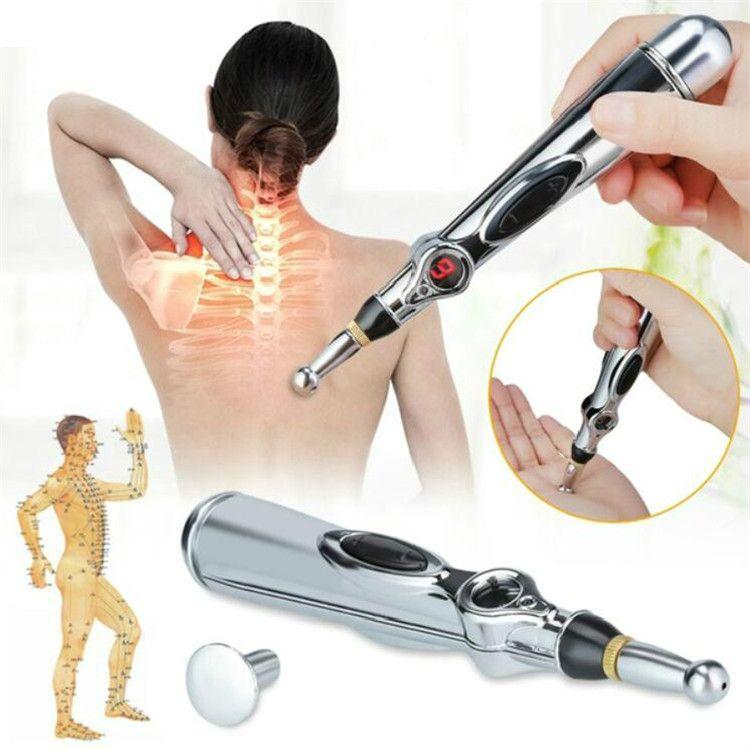 New Electronic Acupuncture Pen Safe Meridian Energy Pen Heal Massage Body Head Neck Leg Health Massageadores (No Cream &battery)