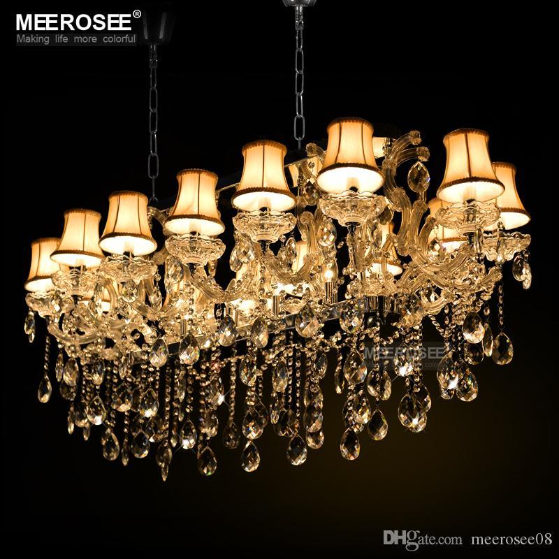 Lustre Lampadario in cristallo moderno Lampadario moderno Argento cristallo Lustro Lampada per Hotel Ristorante Soggiorno MD32011
