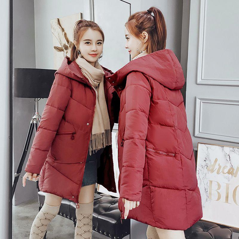 Casacos de inverno mulheres Magro Feminino Parka Espessamento mulher casaco de inverno Com Capuz Das Senhoras Outwear Quente
