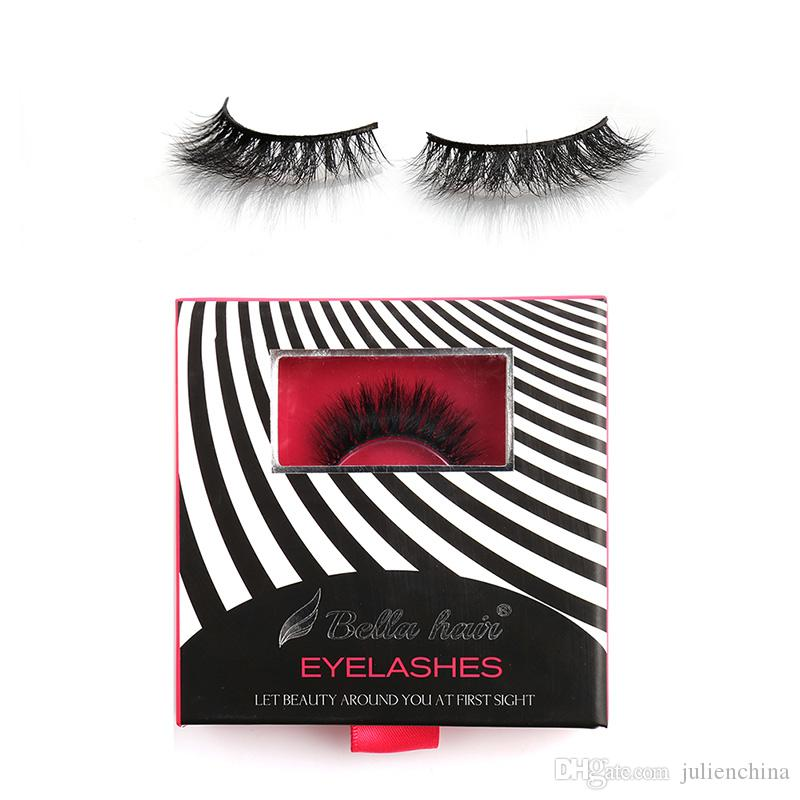 New Arrival 3D Mink hair Lashes Natural Looking Mink Strip False Eyelashes 1Pair/Box Hand-made Messy Cross Reusable Lashes by Bella Hair