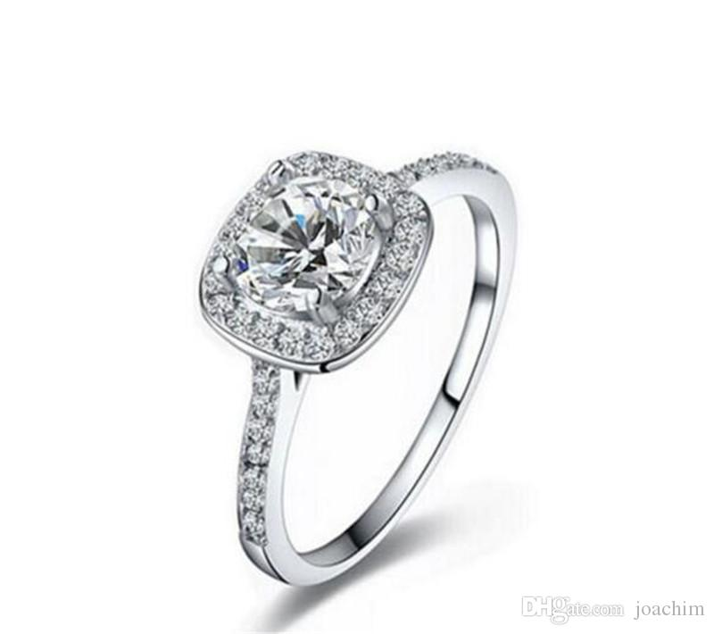 Top vente 925 en argent Sterling Anneaux de mariage avec cubic zirconia Ring Fit Suit Femmes Pandora fine bijoux en gros KKA1931