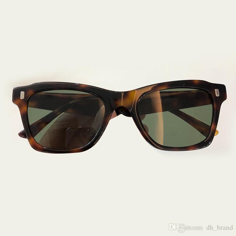 Fashion Brand Sunglasses For Men Popular Retro Vintage Designer Sun Glasses Outdoor Shiny Summer Styl Gold-plated Metal Frame Eyewear